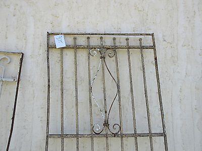 Antique Victorian Iron Gate Window Garden Fence Architectural Salvage Door #375 2