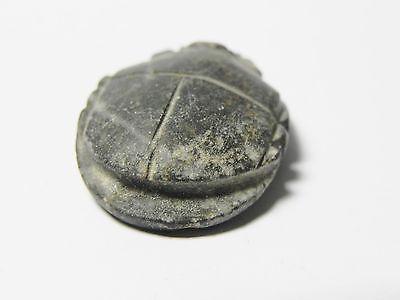 Zurqieh - Af42- Ancient Egypt. Diorite Button Scarab. 600 - 300 B.c 4