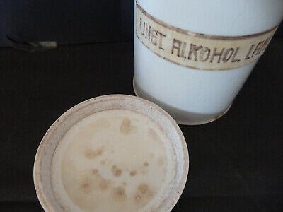 Apothekengefäß Porzellan H:ca.17,5cm Durchmesser ca. 11cm mit Deckel 2