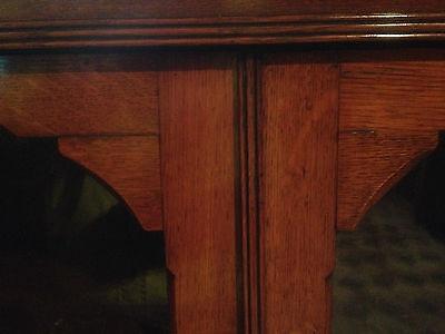 fine quality large antique gothic light golden oak victorian book case 6