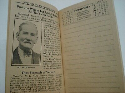 1929 Dr Pierce's Memorandum & Account Book Quack Medicine Tract Book 4