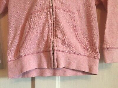 Girls Pink Zipped Long Sleeved Hoodie from Next Age 4 years 3