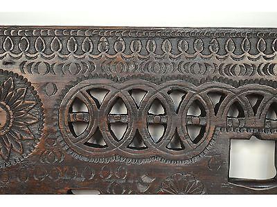 16/17th Century Antique Carved Wood Architectural Decorative Panel 9