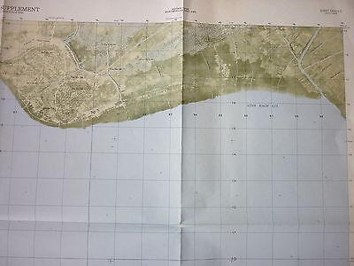 5929 ii S - RARE US NAVY SEALS MAP - GULF of THAILAND - KIEN LUONG - VIETNAM WAR