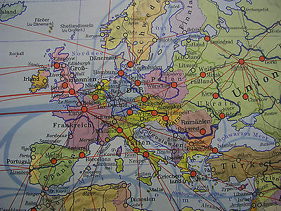 Schulwandkarte schöne alte Weltkarte politische 245x142c vintage world map 1977 7