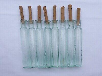 2 x alte kleine Medizin Glas Apotheke Apotheker Flasche grün lang ca. 10,0 cm 7