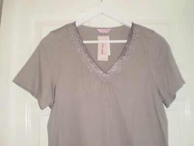 """Blouse""""Per Una"""" M&S Sleepwear Grey Colour Size:14 ( UK ) New With Tags 3"""