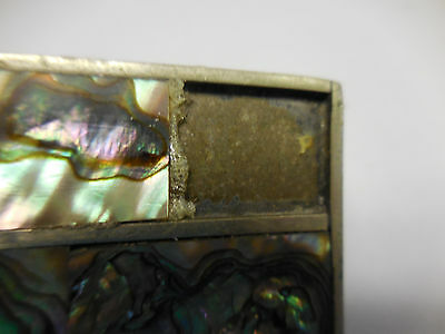 Vintage Alpaca Mexico Belt Buckle Abalone Puau Shell Inlay-MISSING ONE INLAY 3