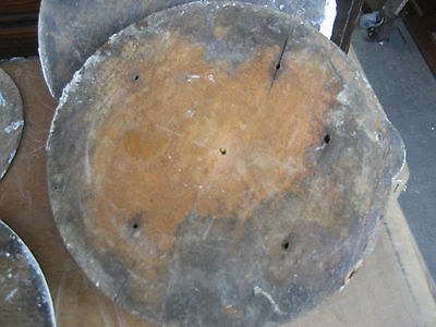 """LARGE victorian age CIRCULAR medallion embellishments OLD paint 6.25"""" dia x 1.25 11"""