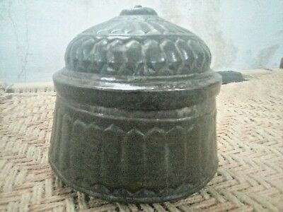 Antique Great Calligraphy Carved Copper Islamic Mughal Religious Big storage Box 4