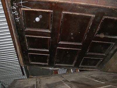 "Tiger Oak wood  Wainscot  Architectural  Antique raised  panel 77 "" X  67"" 8"