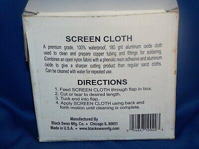 "Black Swan Mfg. Co. Screen Cloth (1-1/2"" x 5 yds) 2"