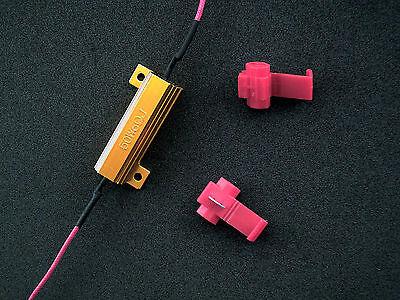 10x 50W 6 ohm Load Resistor Fix LED Bulb Fast Hyper Flash Turn Signal Blink 3