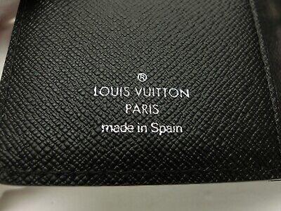 Louis Vuitton Authentic Epi Leather Black Agenda fonctionnel PM Diary cover Auth 10
