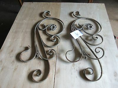 Antique Victorian Iron Gate Window Garden Fence Architectural Salvage #909 2