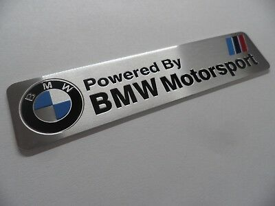BMW Motorsport - Alu 3D Aufkleber Sticker Emblem ///M Power Performance Plakette