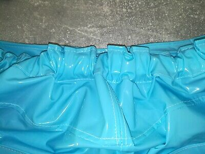Adult Baby SISSY GUMMIHOSE PVC Hose LACK Jeans Gummi Unisex PLASTIK TRAVESTIE XL 9