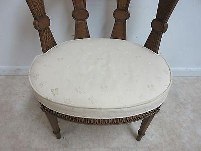 Vintage Italian Regency Fireside Side Lounge Living Room Side Chair B 6