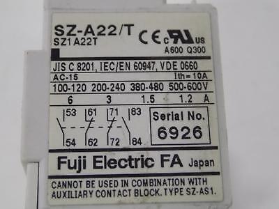 Fuji Electric Contact Block Sz-A22/T 2