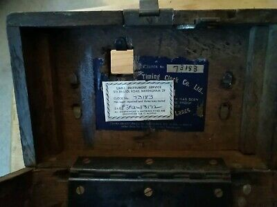 Vintage TOULET IMPERATOR PIGEON RACING TIMING CLOCK IN WOODEN BOX. 5