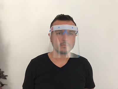 Safety Full Face Shield Clear Flip-Up Visor Transparent Medical Dental Mask 6