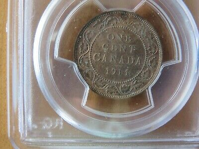 1914 Canada Large One Cent 1C Penny PCGS MS63 BN 3