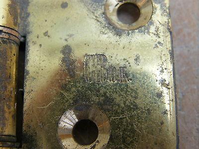 """A Large Reclaimed Brass Door Hinge 4"""" 2"""