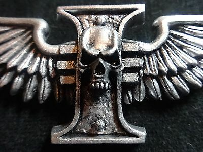 silver Inquisitor winged rosette pin