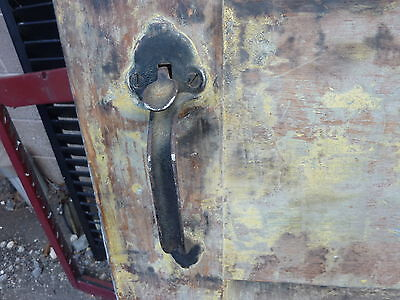"Early 19th century RAISED panel door w/ SMOKED design decor 76 x 30 x 1 7/16"" 5"