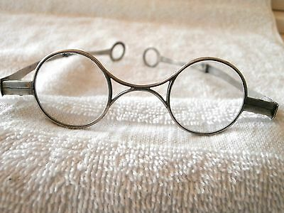 1841 Schweden gekennzeichnet seltener rund silber Brille in Maßanfertigung Hülle