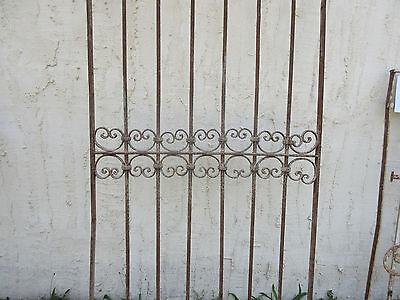 Antique Victorian Iron Gate Window Garden Fence Architectural Salvage Door #52 4
