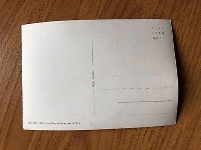 Cartolina Fotografia Con Autografo Scalatore K2 Compagnoni Non Viaggiata 3