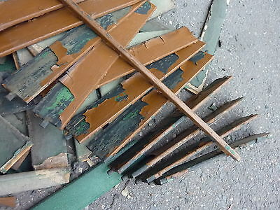 LOT of salvaged WOODEN victorian SHUTTER slats GREAT 4 ART painting projects 2