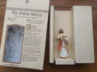Jesus statue Divine Mercy brand new in box with prayer card 2