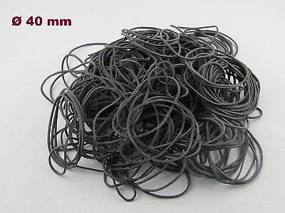100g Gummiringe Haushaltsgummis Gummibänder Rubber schwarz 25mm Ø 1,2x5mm breit