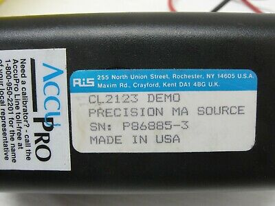 Rochester Accupro DC Milliamp Source CL-2123 0-10 mA, 0-100%. 2
