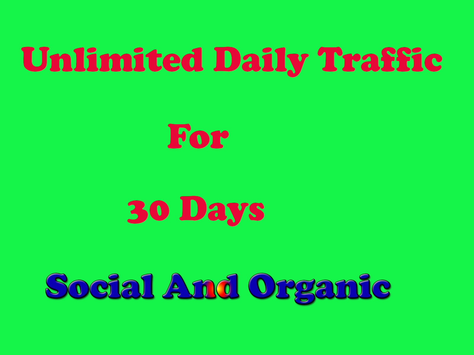 Unlimited Organic Web Site Traffic from USA From Social Media