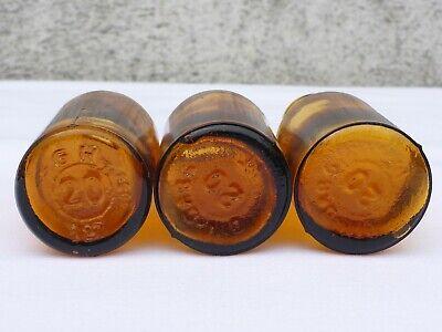 5 x alte braune Medizin Glas Apotheke Apotheker Flasche 20 ml ca. 7,5 cm braun 7