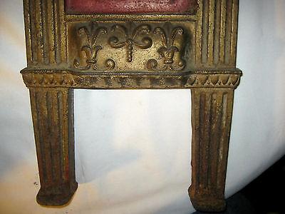 Antique Cast Iron Art Nouveau Nude Lady Bust Movie Theater Plaque Garden Panel 5