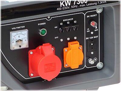 KnappWulf Stromgenerator 7300 Generator Stromerzeuger Notstromaggregat 230+400V 2