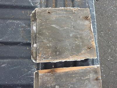 "c1890-1900 colonial EAVE molding bracket salvaged BLOCKS w detail ~ 9"" x 7"" x 2"" 10"