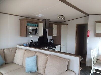 Static Caravan For Hire with private 'hot tub' at Sand Le Mere holiday village. 6