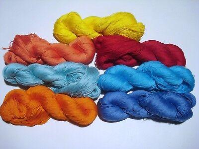 Filati maglia lavori uncinetto gomitoli 100/% Cotone sfumato 12//3 arancione