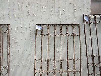 Antique Victorian Iron Gate Window Garden Fence Architectural Salvage Door #333 2