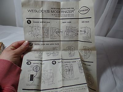 Vintage Western Weslock Modernizer Door Hardware New Old Stock 5