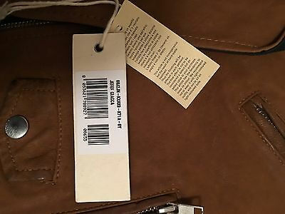 Diesel L-Ulisse Brown Studded Leather Jacket For Boys & Girls 10 Yrs Rrp £399 11