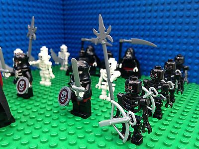 Lego Castle Skeleton Army Witch Queen Grim Reaper Armour Minifigs 14