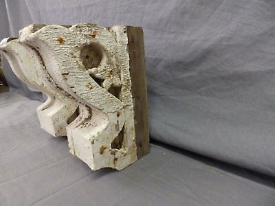 Antique Pair Wood Small Corbel Victorian Architectural Shabby Vtg Chic 506-17P 10