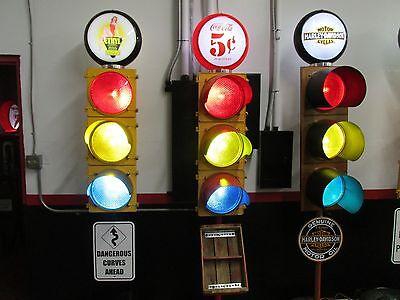 Large Traffic Light Gas Pump Globe Sign Pole Harley Coke OK Cars Corvette 2
