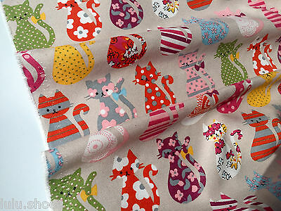 LONDON Underground Curtain Upholstery Cotton Fabric Material 140cm wide canvas